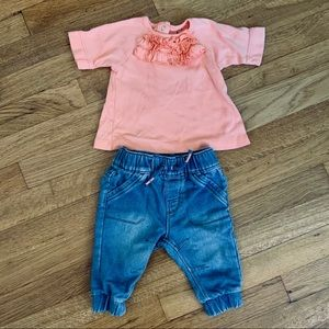 Carter & Jack Cat Girls 3 6 months Bundle Outfit